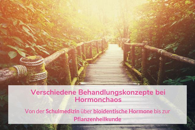 Verschiedene Behandlungskonzepte bei Hormonchaos – Von der Schulmedizin über bioidentische Hormone bis zur Pflanzenheilkunde