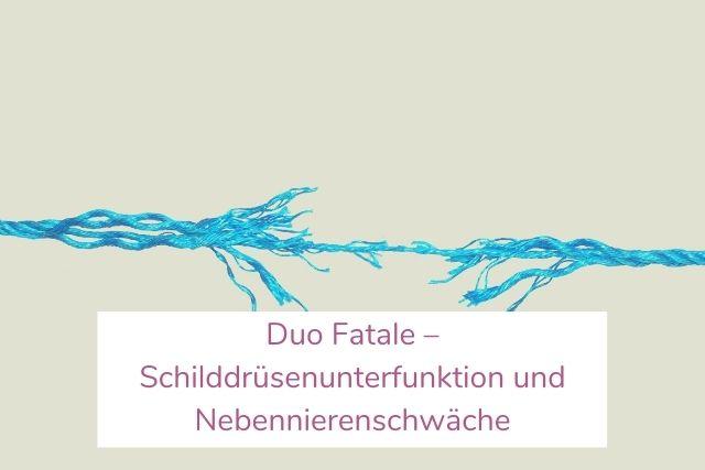 Duo Fatale – Schilddrüsenunterfunktion und Nebennierenschwäche